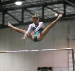 Gloria Johnson wins Gymnastics scholarship at LSU.