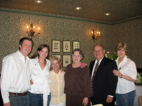 Johnson family members at Houston wedding brunch (following wedding of Kari Starr & David Beck).