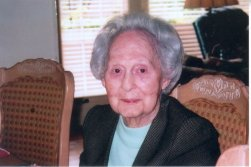 "Anna Katharine ""Tottie"" Flint Joyce age 100 on Aug.19, 2005."