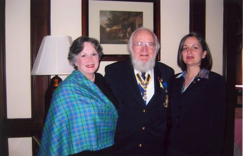 Kellet Stoothoff with mother and grandfather at DAR induction, Nov. 1, 2006