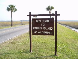 Parris Island sign