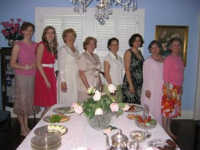 Some ladies attending the Pink Tea at Carmichael Hall, 8 July 2007