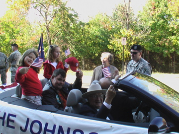 Johnson veterans and children participate in Veterans Day Parade in Birmingham, Nov. 12, 2007.